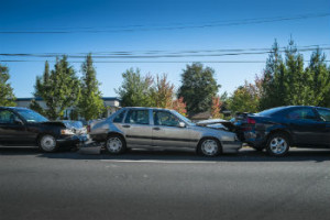 Rhode Island rear end pileup accident